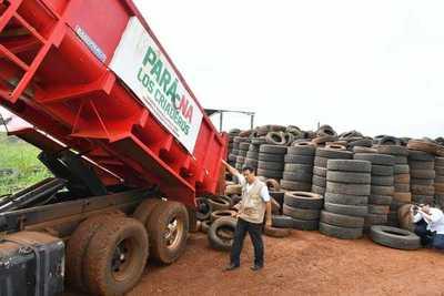 Juntan unas 1.500 cubiertas en desuso al día en Alto Paraná