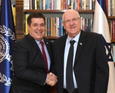 """Presidente de Israel recibe a Cartes: """"Es un gran placer verle aquí de nuevo, mi amigo"""""""