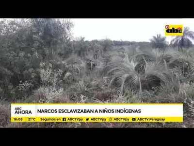 Narcos esclavizaban a niños indígenas