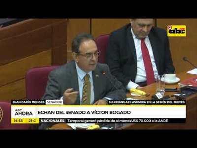 Echan del senado a Víctor Bogado