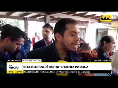 Prieto se reunió con intendenta interina
