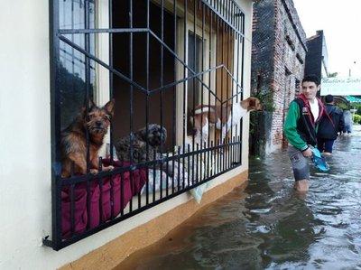 Vuelve a subir el nivel del río en Asunción y Pilar