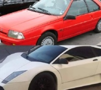 Convirtió su viejo Renault en un Lamborghini Murciélago