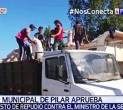 Junta Municipal de Pilar repudia a Ministro de la SEN
