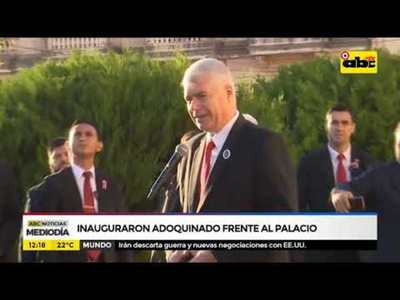 Inauguraron adoquinado frente al palacio