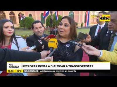 Petropar invita a dialogar a transportistas