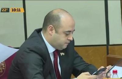 Arnaldo Franco Echeverría jura como nuevo senador
