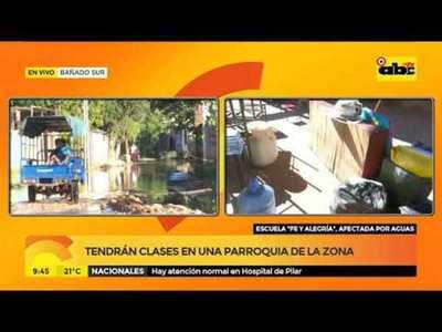 Escuela Fe y Alegría, afectada por aguas