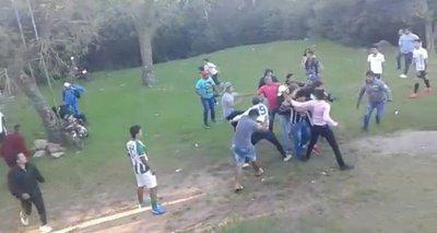 Violencia en el fútbol en Caacupé