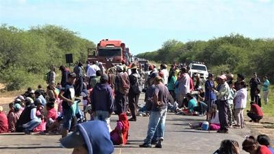 Indígenas levantan cierre de Transchaco y aguardan reunión con autoridades