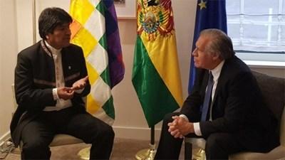 Almagro dice que Evo Morales sería discriminado si no fuera a la reelección