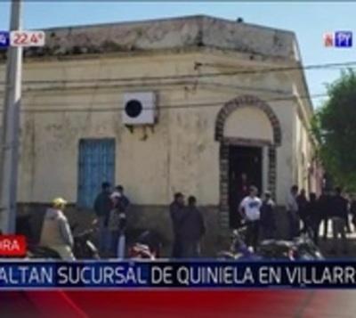Malvivientes roban G. 20 millones de una sucursal de quiniela