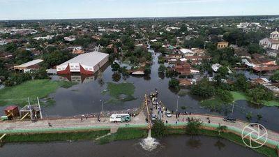 Pilar: Nivel estacionario del río pero sigue en alerta amarilla