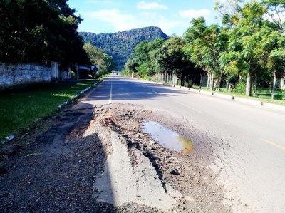 Deteriorada ruta Paraguarí-Villarrica será reparada recién en cuatro meses
