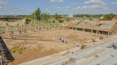 Avanzan obras del estadio para el Mundial de Fútbol de Playa y la futura sede de APF