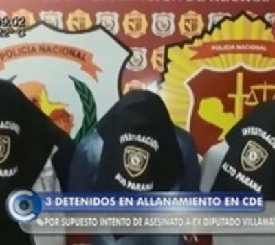 Detienen a presuntos implicados en plan de atentado contra exdiputado