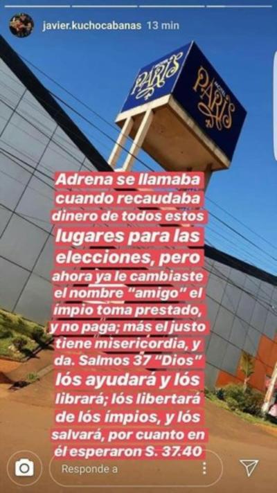"""Cucho advierte que """"la ira de Dios será peor"""""""