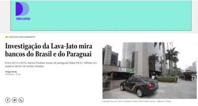Basa es investigado por lavado de dinero, según diario O Globo