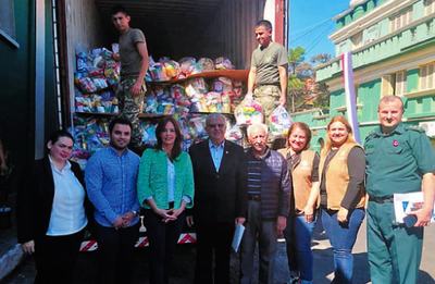 Empresarios de CDE enviaron donaciones