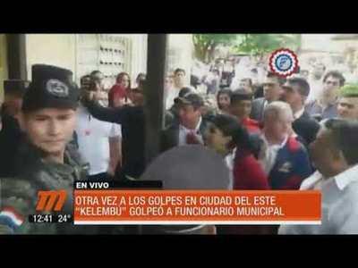 """Kelembú"" golpeó a funcionario municipal en CDE"
