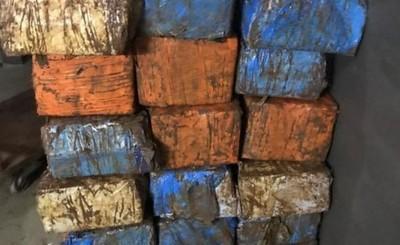 Policía brasileña incauta 400 kg de marihuana en Isla Acaray