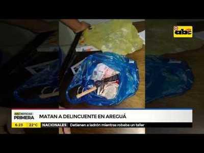 Matan a delincuente en Areguá