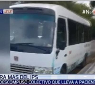 Minibus del IPS se descompone nuevamente y deja a pacientes varados