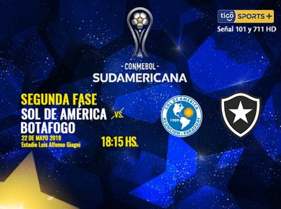 Sol de América se mide a Botafogo por la Suda