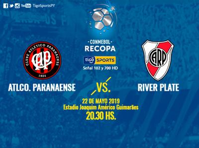 Paranaense y River juegan por la ida de la Recopa