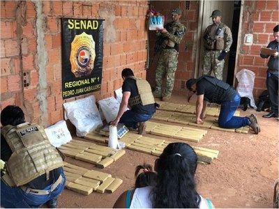 Detienen a una mujer con 103 kilos de marihuana en Pedro Juan Caballero