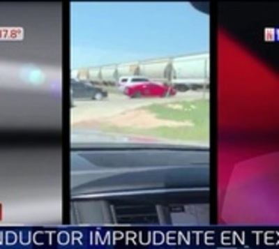 Conductor de camioneta se salva de milagro al chocar contra un tren