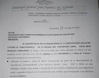 Llamativo pedido de informe a bomberos, en relación a denuncia contra intendente