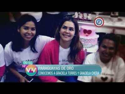 Graciela Torres y Graciela Chera las Paraguayas de Oro de Vive la Vida.