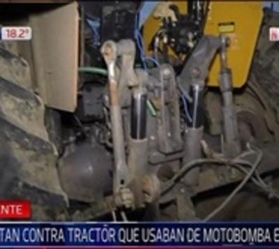 Atentan contra tractor utilizado para motobomba de emergencia en Pilar