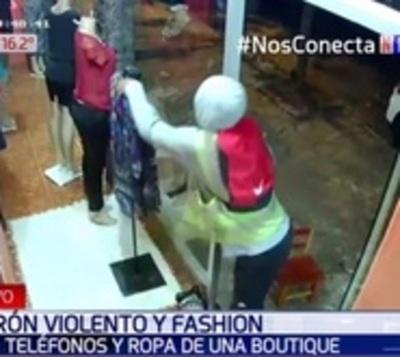 Ladrón roba celular a encargada de boutique y se lleva una prenda