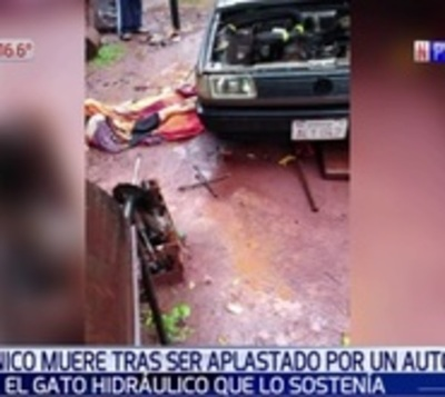 Mecánico muere asfixiado luego de ser aplastado por automóvil