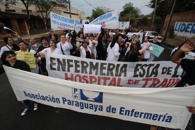Enfermeras se movilizarán por cumplimiento de sus derechos