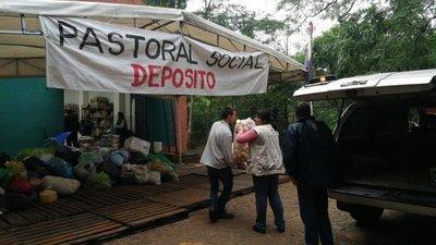 Inundaciones: continúa colecta de víveres en el ex Seminario Metropolitano