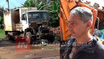 FUNCIONARIO RECLAMÓ QUE REPAREN LOS CAMIONES RECOLECTORES Y LO SANCIONARON