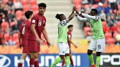 Los goles de Nigeria en su triunfo ante Catar.
