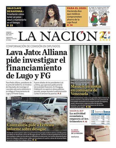 Edición impresa, 25 de mayo de 2019
