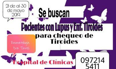 Clínicas: Buscan pacientes con lupus y con sospechas de tiroides