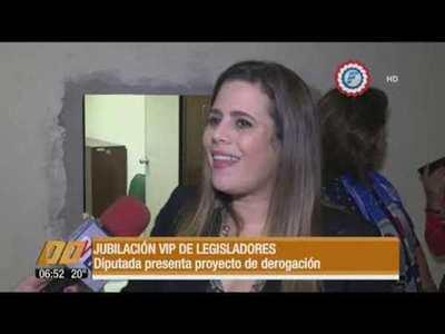 Diputada presenta proyecto que elimina la jubilación de parlamentarios