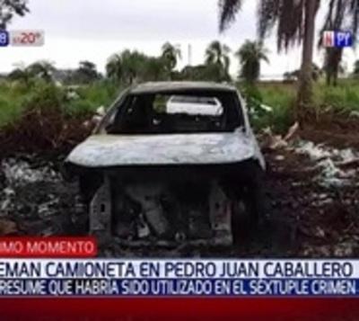 Séxtuple asesinato: Auto utilizado por sicarios fue hallado incinerado
