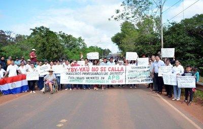 Pobladores de Yby Yaú deciden no callar más