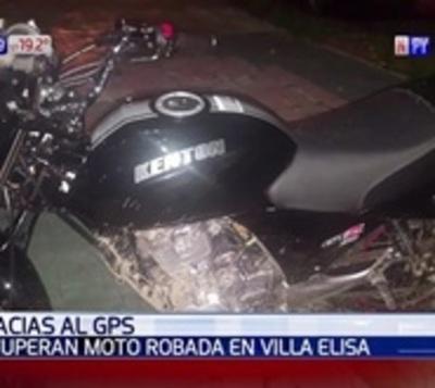 Recuperan moto robada gracias a sistema de GPS