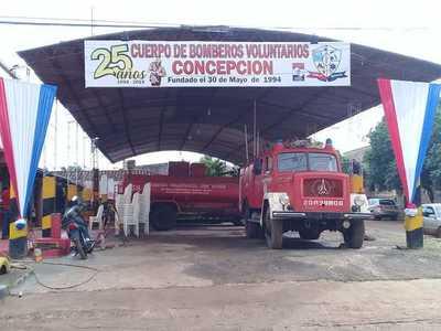 Bomberos de Concepción cumplen Bodas de Plata