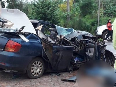 Violento choque deja un muerto en Puente Kyjha