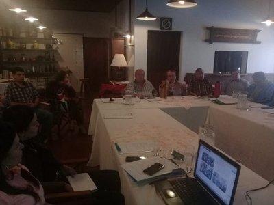 Asamblea de yerbateros en el marco de un conflicto con productores