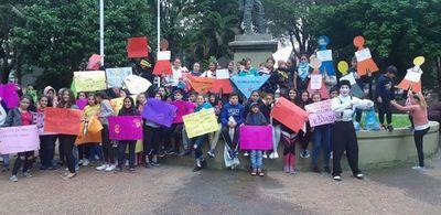 Marcharon contra abuso sexual infantil y adolescente